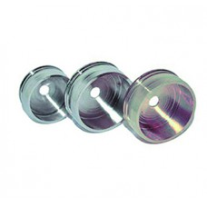 WARDROBE TUBE SUPPORT NICKEL-PLATED 19MM A PAIR