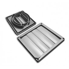 LOUVERED VENT GREY 165MM 100-125MM