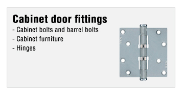 Cabinet door fittings